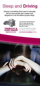 sleep & driving